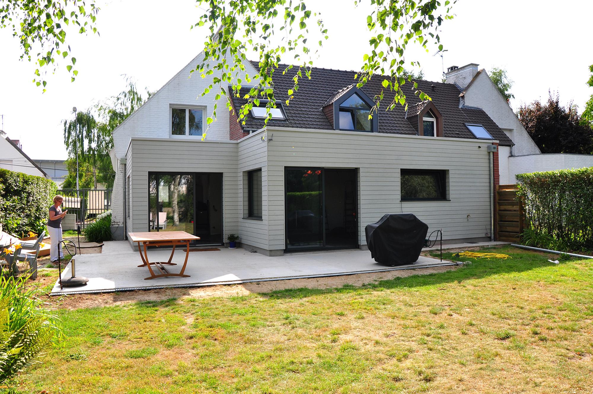 Extension d une maison individuelle marcq en baroeul for Architecte pas de calais
