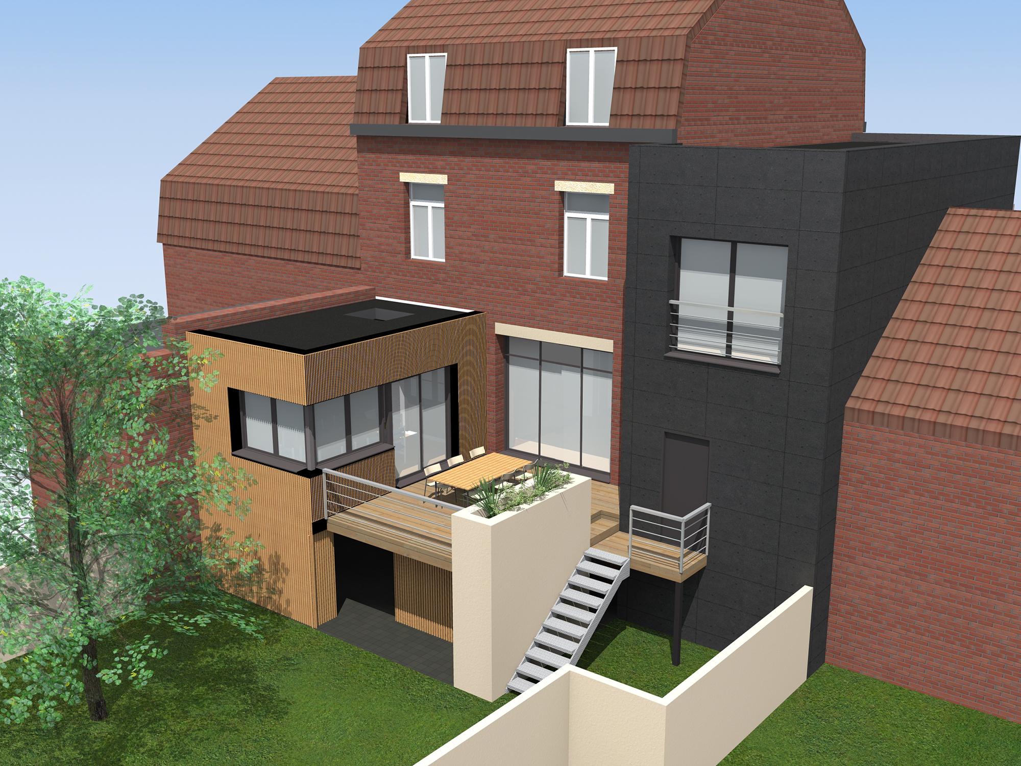 Extension D Une Maison Individuelle Linselles Amiot