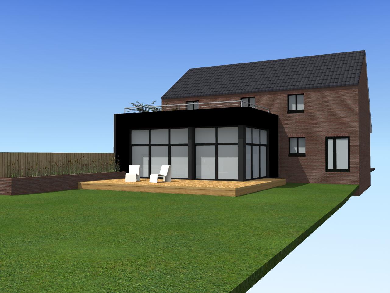 extension d une maison individuelle jeumont amiot arnoux architectes. Black Bedroom Furniture Sets. Home Design Ideas
